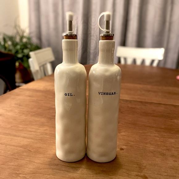 Rae Dunn oil & vinegar bottles